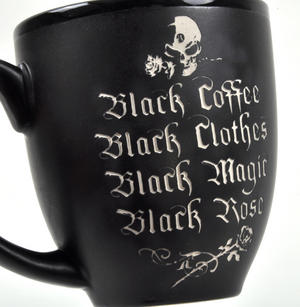 Black Coffee Black Rose Mug Thumbnail 2
