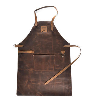 Mr. Smith Cheese Apron - Brown Leather Culinary Apron by Boska