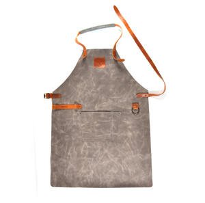 Mr. Smith Cheese Apron - Grey Leather Culinary Apron by Boska
