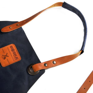 Mr. Smith Cheese Apron - Blue Leather Culinary Apron by Boska Thumbnail 2
