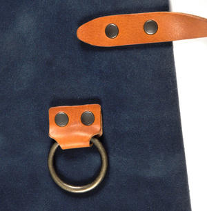 Mr. Smith Cheese Apron - Blue Leather Culinary Apron by Boska Thumbnail 4