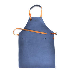 Mr. Smith Cheese Apron - Blue Leather Culinary Apron by Boska Thumbnail 6