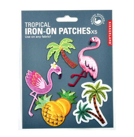 Tropical Iron-On Patches x5