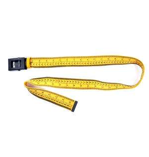 Diet Tape Measure Belt with Zinc Alloy Buckle