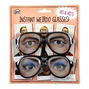 Instant Weirdo Glasses - His & Hers Set of 2