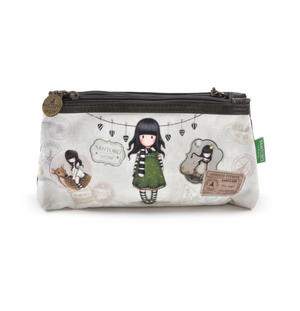 Gorjuss Vacation - The Scarf  Double Pencil Case Thumbnail 1