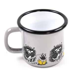 Stinky - Grey Moomin Muurla Enamel Mug - 1.5 cl