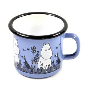 Moomin - Blue Moomin Muurla Enamel Mug - 2.5 cl Thumbnail 2