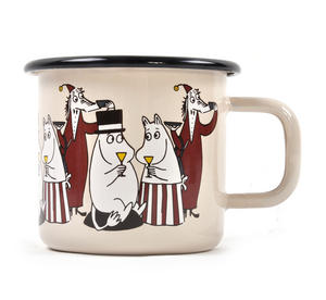 Moomin Friends -Fillyjonk - Cream Moomin Muurla Enamel Mug - 3.7 cl