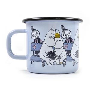 Moomin Friends - Mymble Blue Moomin Muurla Enamel Mug - 3.7 cl