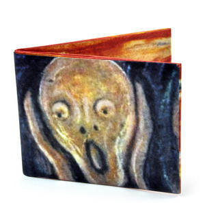 Edvard Munch's Scream Sonic Wallet - Tough Tyvek Wallet with Sound Effects