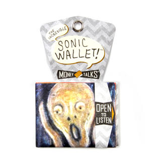 Edvard Munch's Scream Sonic Wallet - Tough Tyvek Wallet with Sound Effects Thumbnail 3