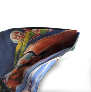 Unidentified Flying Objects Sonic Wallet - Tough Tyvek UFO Wallet with Sound Effects Thumbnail 2