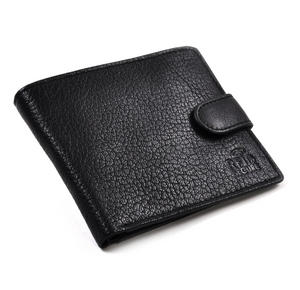 RFID Black Leather Wallet with Secure Lining Preventing Data Theft Thumbnail 1