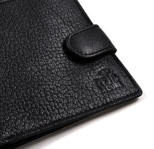 RFID Black Leather Wallet with Secure Lining Preventing Data Theft Thumbnail 2