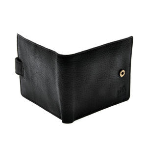 RFID Black Leather Wallet with Secure Lining Preventing Data Theft Thumbnail 5