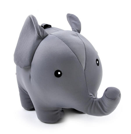 Zip & Flip Elephant Pillow - Cuddly Elephant Transforms Into Travel Neck Pillow