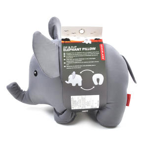 Zip & Flip Elephant Pillow - Cuddly Elephant Transforms Into Travel Neck Pillow Thumbnail 7