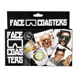 20 Double Sided Crazy Face Coasters Thumbnail 2