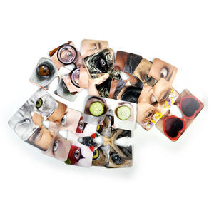 20 Double Sided Crazy Face Coasters Thumbnail 3