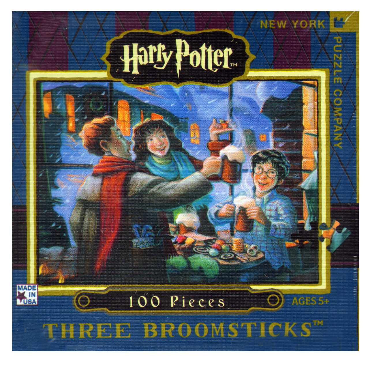 harry potter three broomsticks 100pc jigsaw puzzle pink. Black Bedroom Furniture Sets. Home Design Ideas