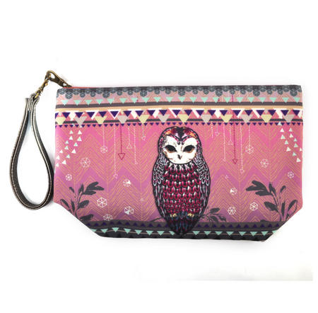 Owl / La Chouette Curiosités Sauvages Make Up Bag / Grande Trousse