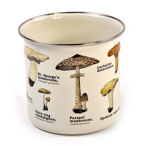 Mushrooms Encyclopaedia Enamel Mug