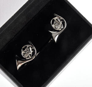 Cufflinks - French Horns for Composer / Musician / Orchestra Thumbnail 2