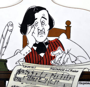 Chopin Bored - Chopping Board for Composer / Musician / Orchestra Thumbnail 2