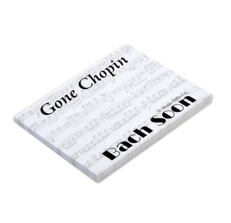 Gone Chopin? Bach Soon - Memo Sticky Notes for Composer / Musician / Orchestra