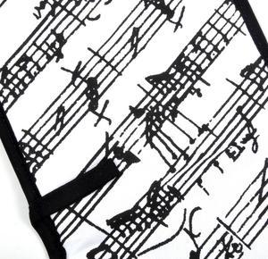 Music Manuscript Black & White Oven Gloves - for Composer / Musician / Orchestra