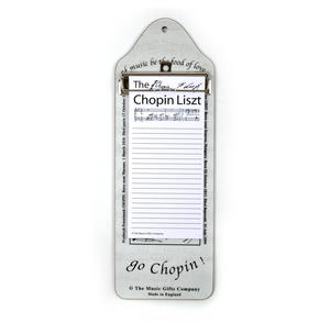 Chopin Liszt - Shopping List Memo Pad for Composer / Musician / Orchestra Thumbnail 3