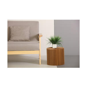 Medium Occasional Table & Clear Top by Paper Lounge - Portable Concertina Design  / Supports up to 300kg