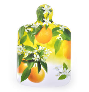 "Citrus Fruit Chopping Board - Melamine 34 cm / 8.5"" X 13"""