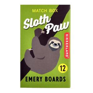 Sloth Paw Match Box Emery Boards