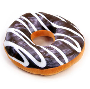 24cm / 9 inch Donut Pillow - Chocolate Doughnut Replicushion