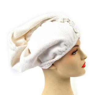 Girlfriend! Microfibre Hair Turban - White Thumbnail 1