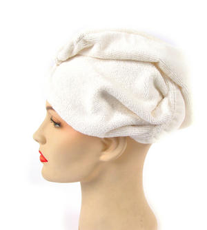 Girlfriend! Microfibre Hair Turban - White Thumbnail 3