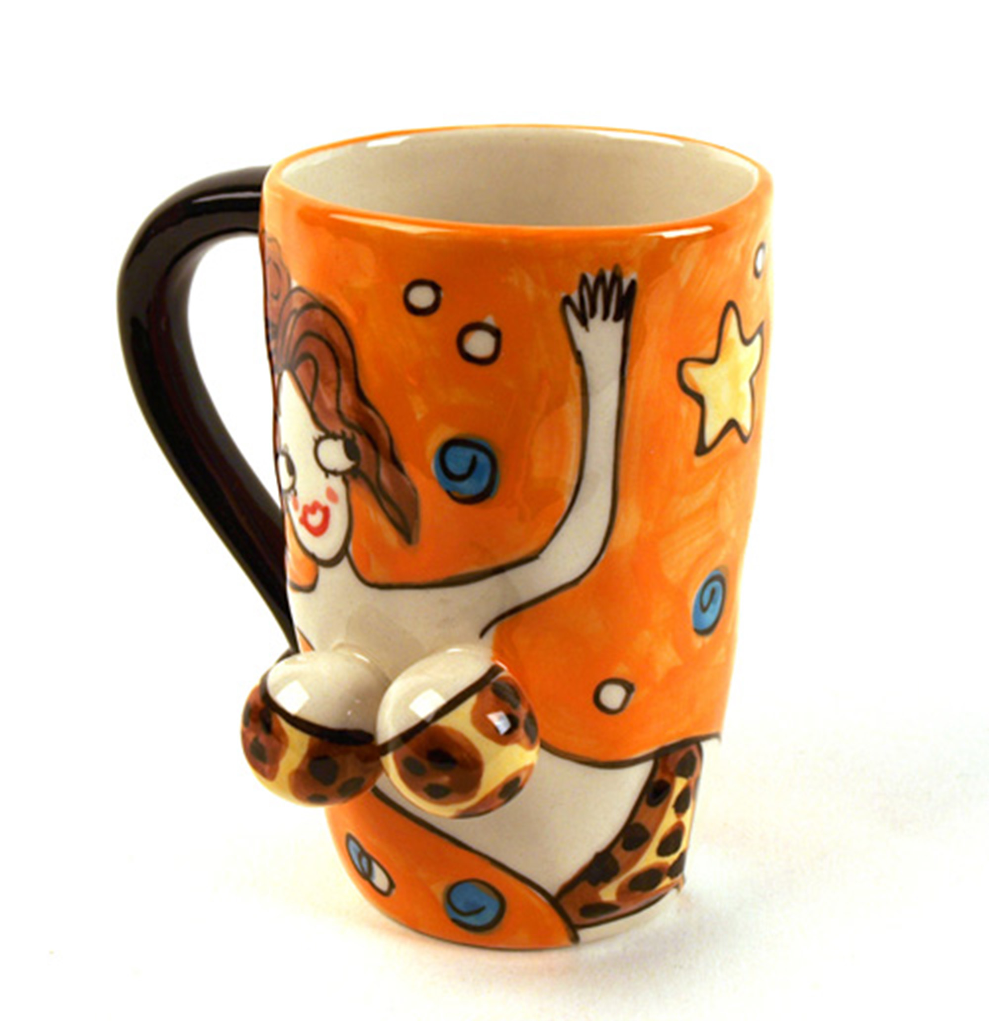 beautiful 3d mug leopard pink cat shop