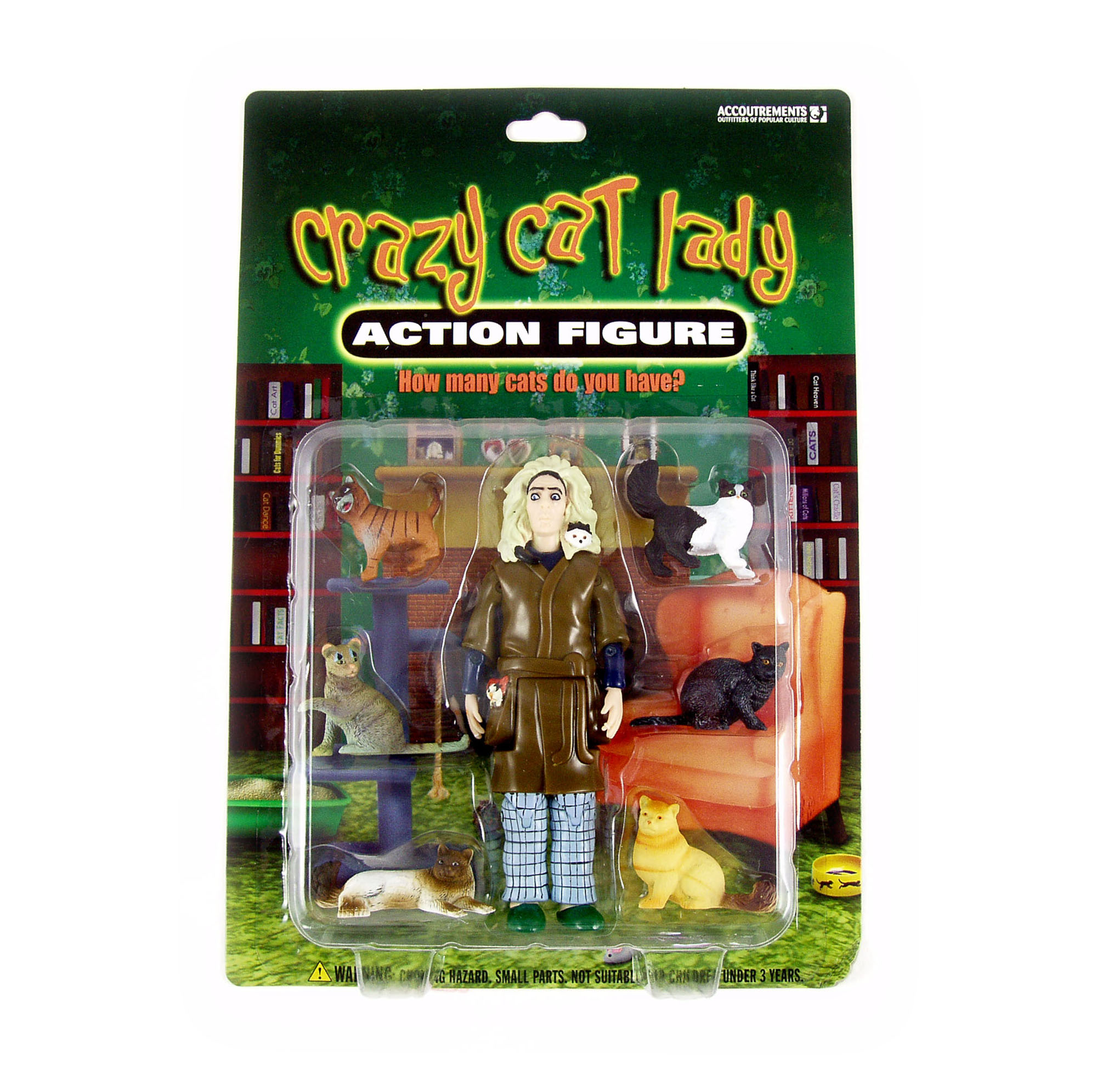 Crazy Cat Lady Action Figure | Pink Cat Shop