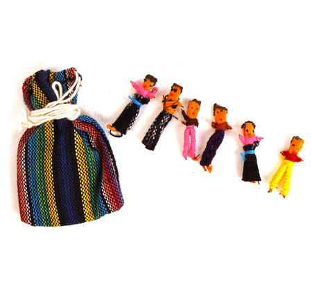 Guatemala Worry Dolls - Share Your Worries And Lose Them.