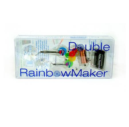Solar Powered Double Crystal Rainbow Maker