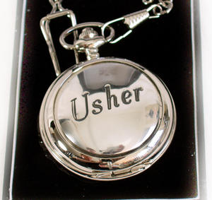 Usher Pocket Watch - Wedding Souvenir Watch Thumbnail 1