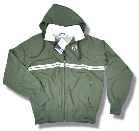 new sergio tacchini hooded windrunner jacket green. Black Bedroom Furniture Sets. Home Design Ideas