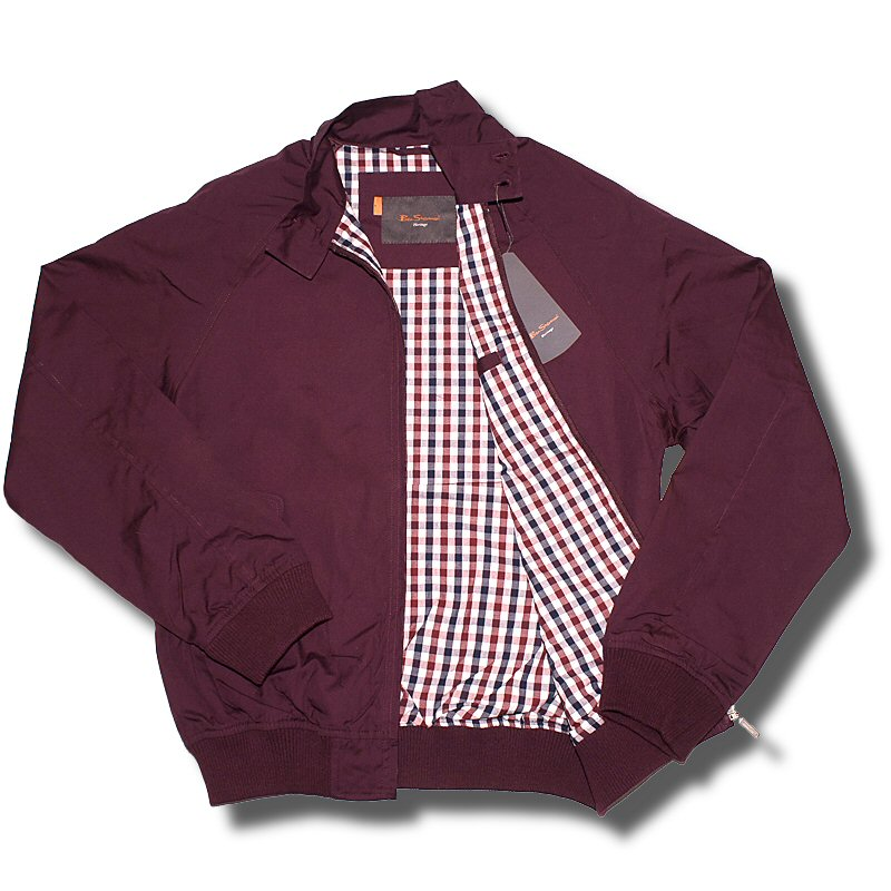 classic ben sherman mod retro harrington jacket burgundy wine adaptor clothing. Black Bedroom Furniture Sets. Home Design Ideas