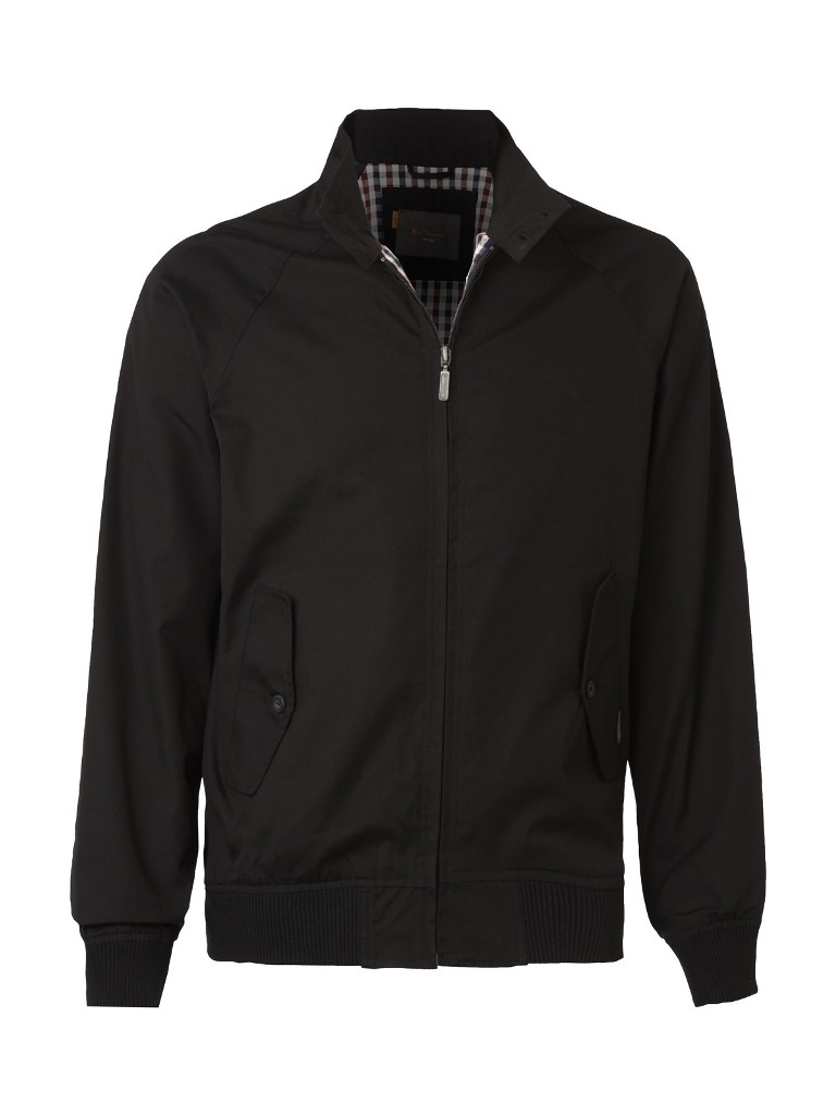 ben sherman mod retro harrington jacket plus size black ebay. Black Bedroom Furniture Sets. Home Design Ideas