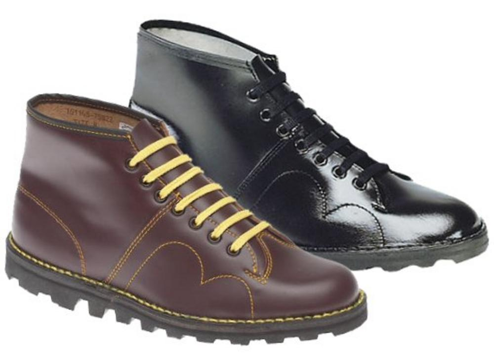 New Grafters Retro Treaded Sole Leather Monkey Boots