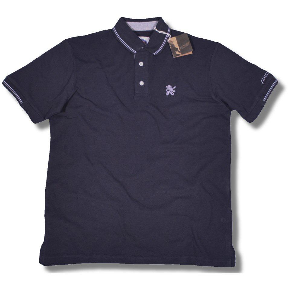 Lambretta mod 3 button tipped s s pique polo shirt for 3 button polo shirts