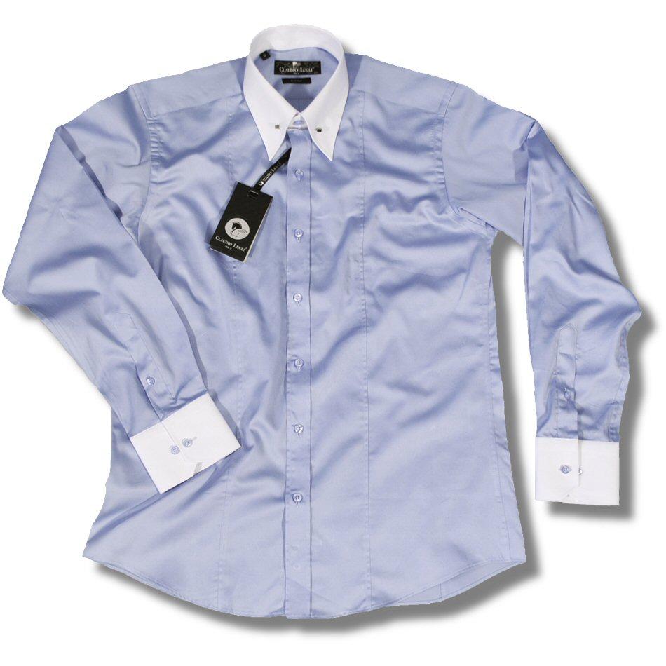 Claudio Lugli Mod 60 39 S Contrast Classic Pointed Collar