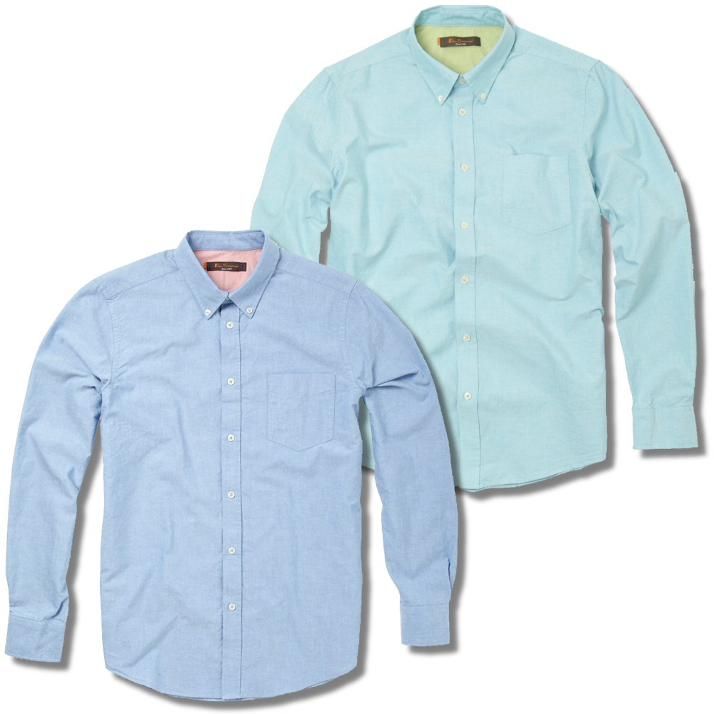 classic ben sherman mod casual oxford style button down
